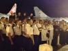 Le CEMAA, l'escadron, les chanteurs et Mr STEPHANOPOLI