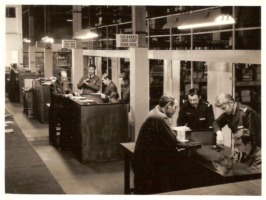 Vue du fichier F100 (1970) photo Jean Marc Allongue