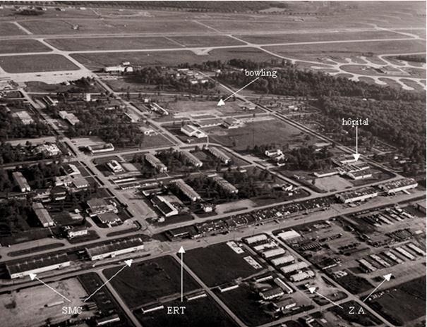La base, vue aérienne